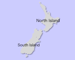 Sister City Map - New Zealand